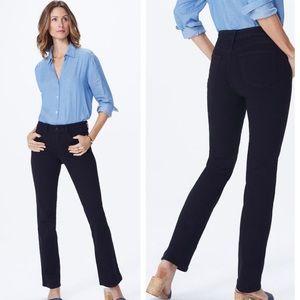 Nydj barabara bootcut black jeans comfort new